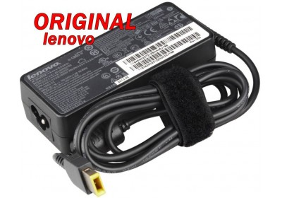 Адаптер за лаптоп ОРИГИНАЛЕН (Зарядно за лаптоп) Lenovo 20V 3.25A 65W (slim tip) правоъгълна букса
