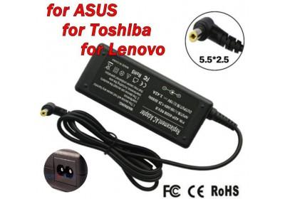Адаптер за лаптоп (Зарядно за лаптоп) 19V 3.42A 65W букса 5.5mm x 2.5mm Ремаркетиран
