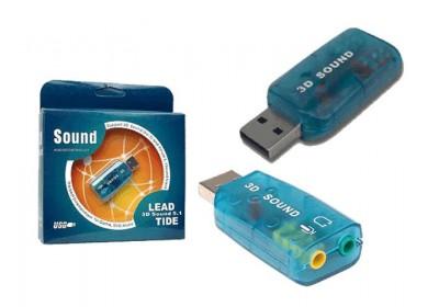 Външна USB звукова карта за лаптоп или настолен компютър